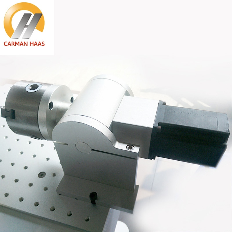 Diameter 80MM Rotary Device For Laser Marking Machine Including Motor And Driver Cylinder Marking Device