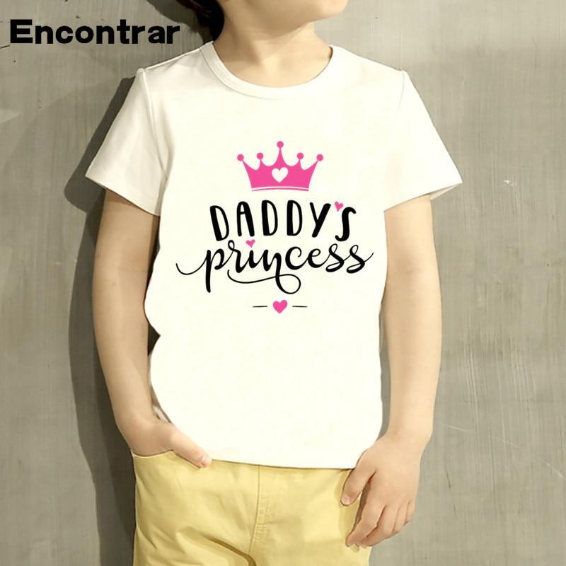 MAMA Boy DAD Princess Cartoon Design Baby Boys/Girl T Shirt Kids Funny Short Sleeve Tops Children Cute T-Shirt,HKP3028