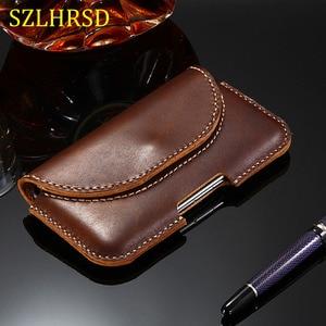 SZLHRSD for ASUS ZenFone 5 ZE620KL Classic Case Handmade Case Genuine Leather Holster Belt Clip Phone Cover Waist Bag