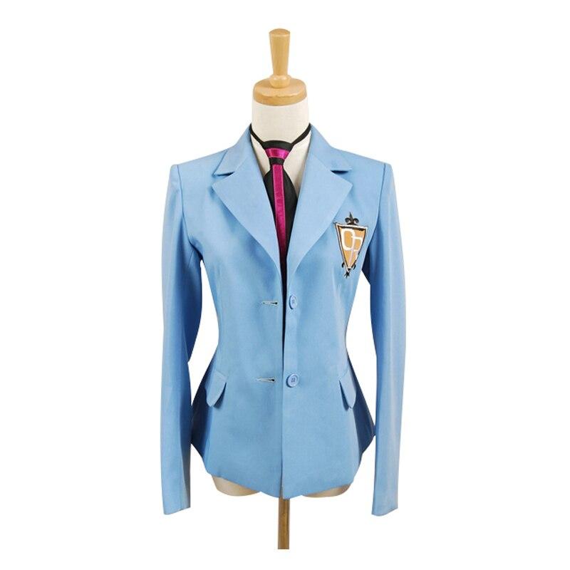 Jacket and Tie Only Ouran High School men women Host Club School Haruhi Kyoya Hikaru Takashi Uniform Cosplay Costume and wig