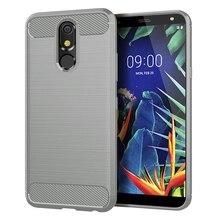 LG kılıfı G8S G6 G7 G8 ThinQ V30 V50 V40 V30S K40 K50 K10 K8 2018 Q9 bir Q7 Q6 Q60 Q Stylus Aristo 3 W10 karbon Fiber kapakları