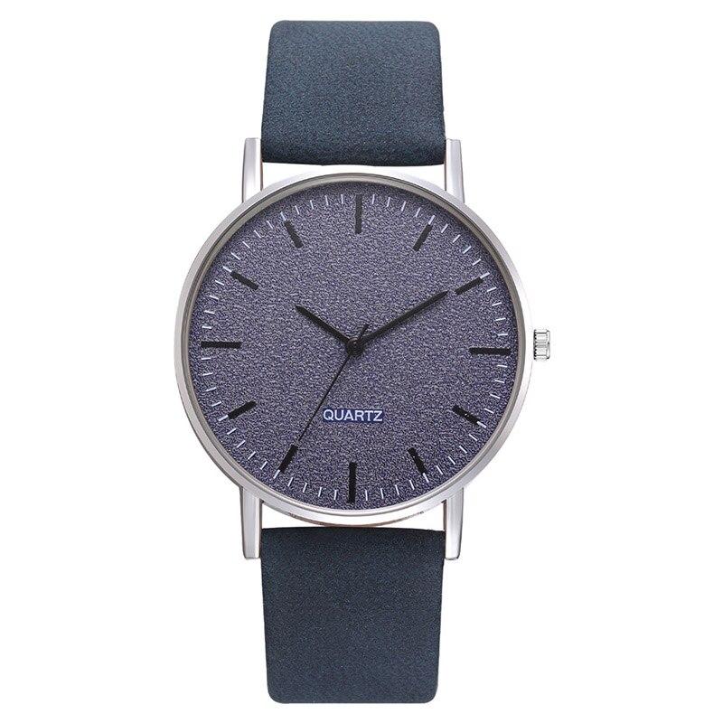 Reloj de cuarzo clásico informal duradero con esfera esmerilada y correa de cuero PU LL @ 17 para mujer