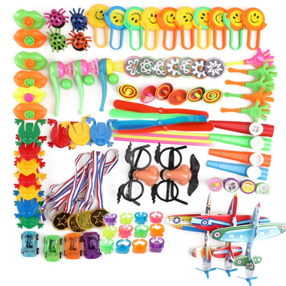Set de regalos para fiesta de cumpleaños, de 100 Uds., relleno de Piñata, bolsa de goodies, obsequios de cumpleaños para niños, premios para clase, juguetes para niños