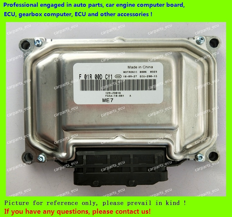 Para Ordenador de motor de coche Haima/MT22 ECU/unidad de Control electrónico/F01R00DCY1 FA5A-18-881/F01RB0DCY1