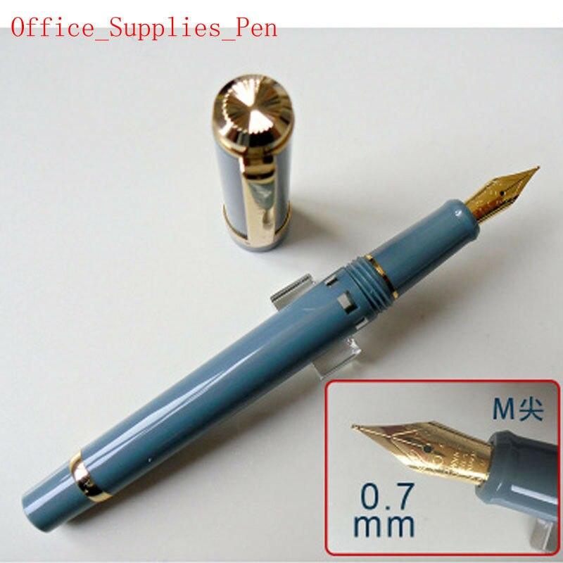 Pluma estilográfica modelo 2019 Wing Sung 698 Piston Teal pluma de tinta M Nib (0,7mm) papelería oficina escuela suministros penna stilografica