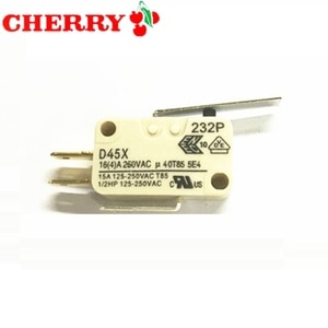 original CHERRY micro switch D45X CD45X 16A short/long/pulley/bent handle 10A 250V