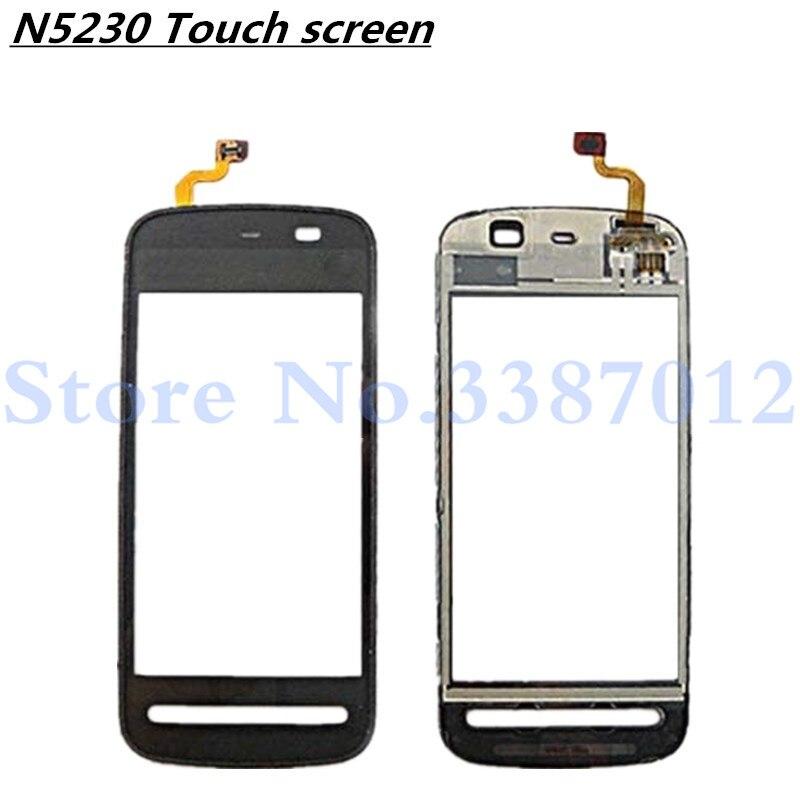 """Panel de lente de vidrio exterior con Sensor de Digitalizador de pantalla táctil de alta calidad 3,2 """"para Nokia 5230 N5230 envío gratis"""