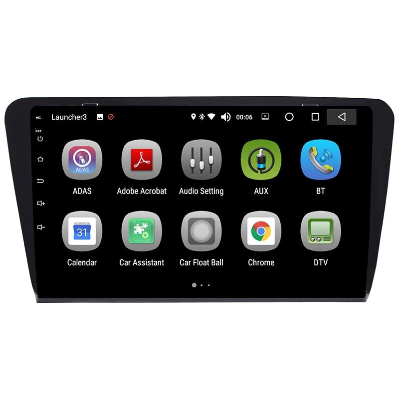 Android 8,0 reproductor Multimedia para coche 8 pulgadas audio radio video entretenimiento I din sistema de navegación para Skoda Octavia A7 2014-2018