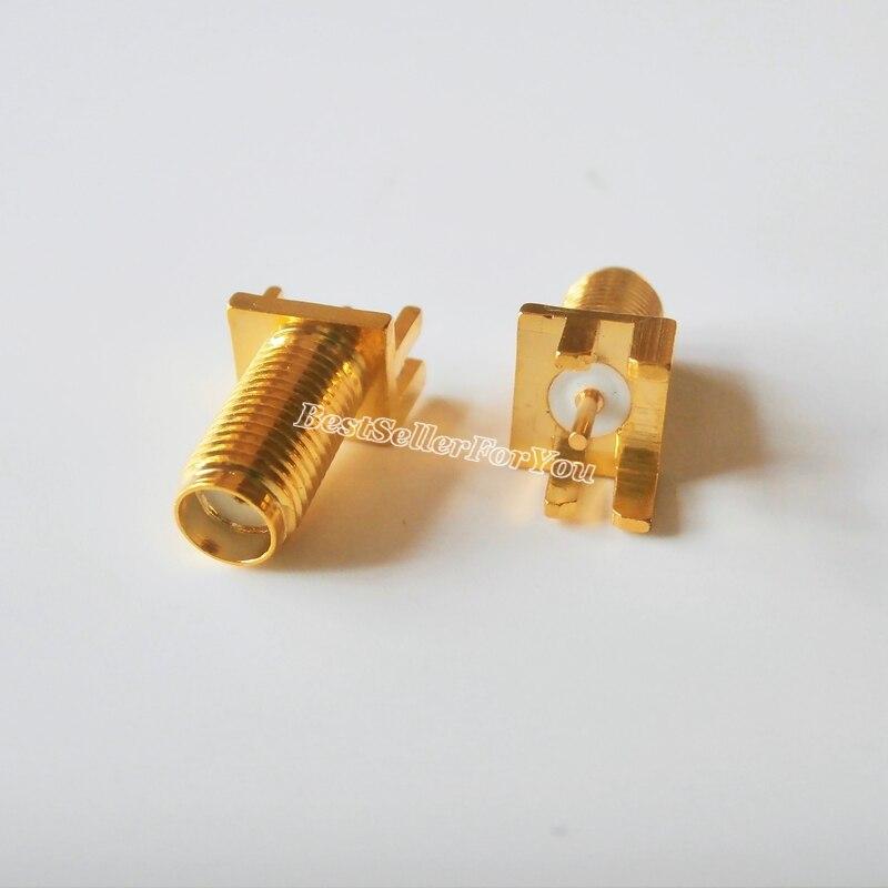 10 Uds SMA jack hembra pin cuadrado enchufe de panel PCB borde montaje soldador RF nuevo largo