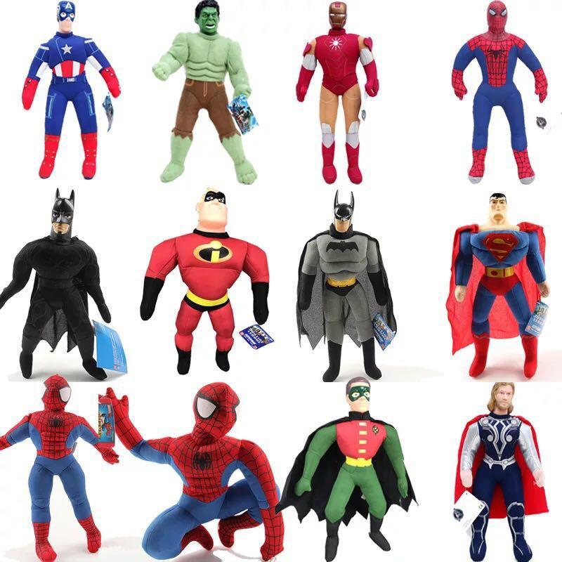 The Avengers Action Figure Toys 25cm Spiderman Batman Superman Ironman Hulk Captain America Thor Marvel In STOCK Christmas Gift