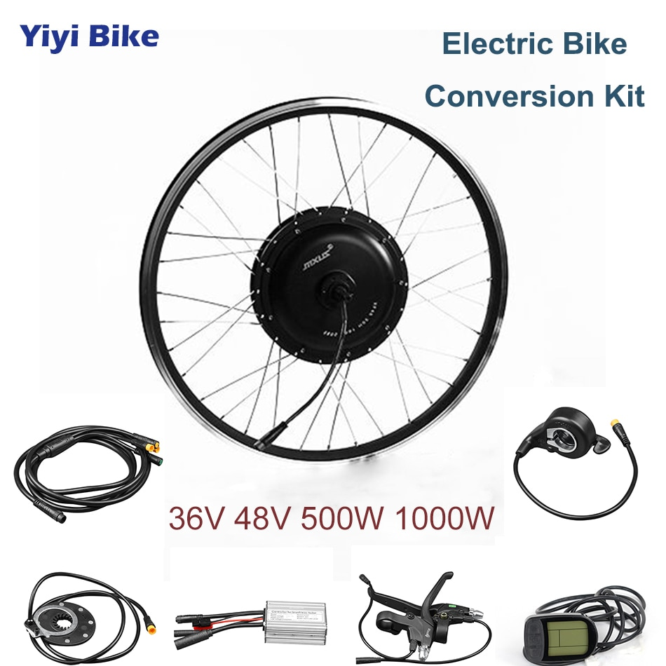 MXUS DC Controller 36V 48V 500W 1000W Brushless Motor Electric Bike Conversion Kit 26 inch Electric Vehicle LCD Display Scooter
