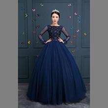 100% navy blue bordare lungo abito Medievale Rinascimentale Dellabito della principessa Costume Gotico Vittoriano/Marie Antoinette/l Belle sfera