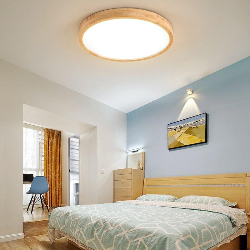 جديد LED ضوء السقف خشب متين مصباح غرفة نوم ضوء الردهة شرفة أدت السقف مصباح المطبخ أضواء السقف سطح جبل