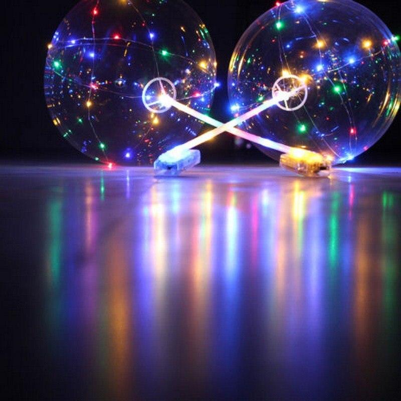 Globos Led con palos luminosos accesorios de decoración de fiesta luces de cadena transparentes globos de helio de burbujas redondas niños de juguete