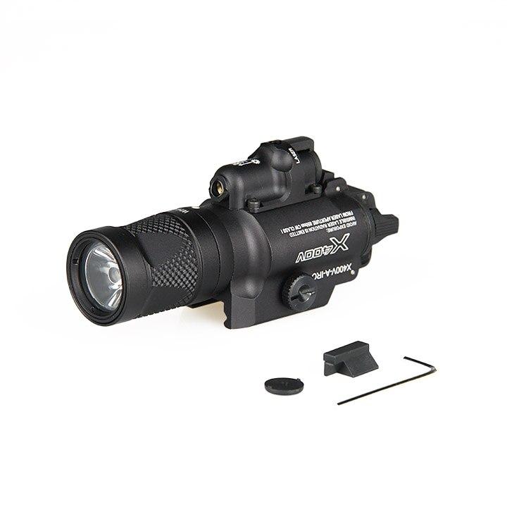 X400V Taschenlampe mit Rotem Laser-augen Für Handfeuerwaffen Langwaffen M1913 Picatinny-schienen gz150083