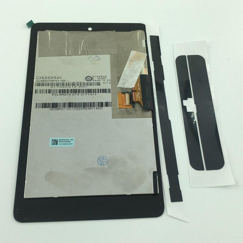 Montaje de sensor digitalizador de pantalla táctil panel de pantalla LCD para ASUS nexus 7 ME370T ME370 ME370TG nexus 7c adhesivo de doble cara