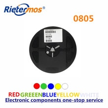 Rietermos SMD 0805 3000 шт катушка красный синий зеленый желтый белый теплый белый оранжевый светодиодный светильник Сделано в Китае