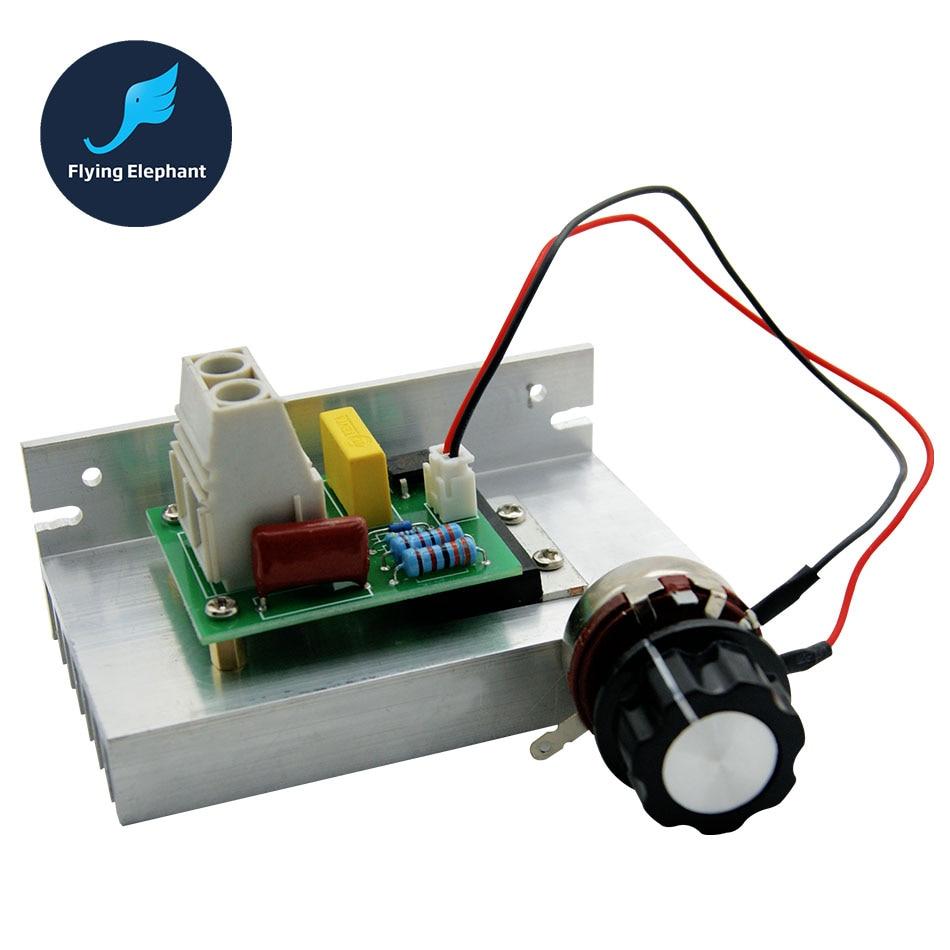 Электронный регулятор напряжения переменного тока, 220 В, 10000 Вт, SCR, 10-220 В, тепловой плавкий предохранитель для контроля скорости, диммер, терм...