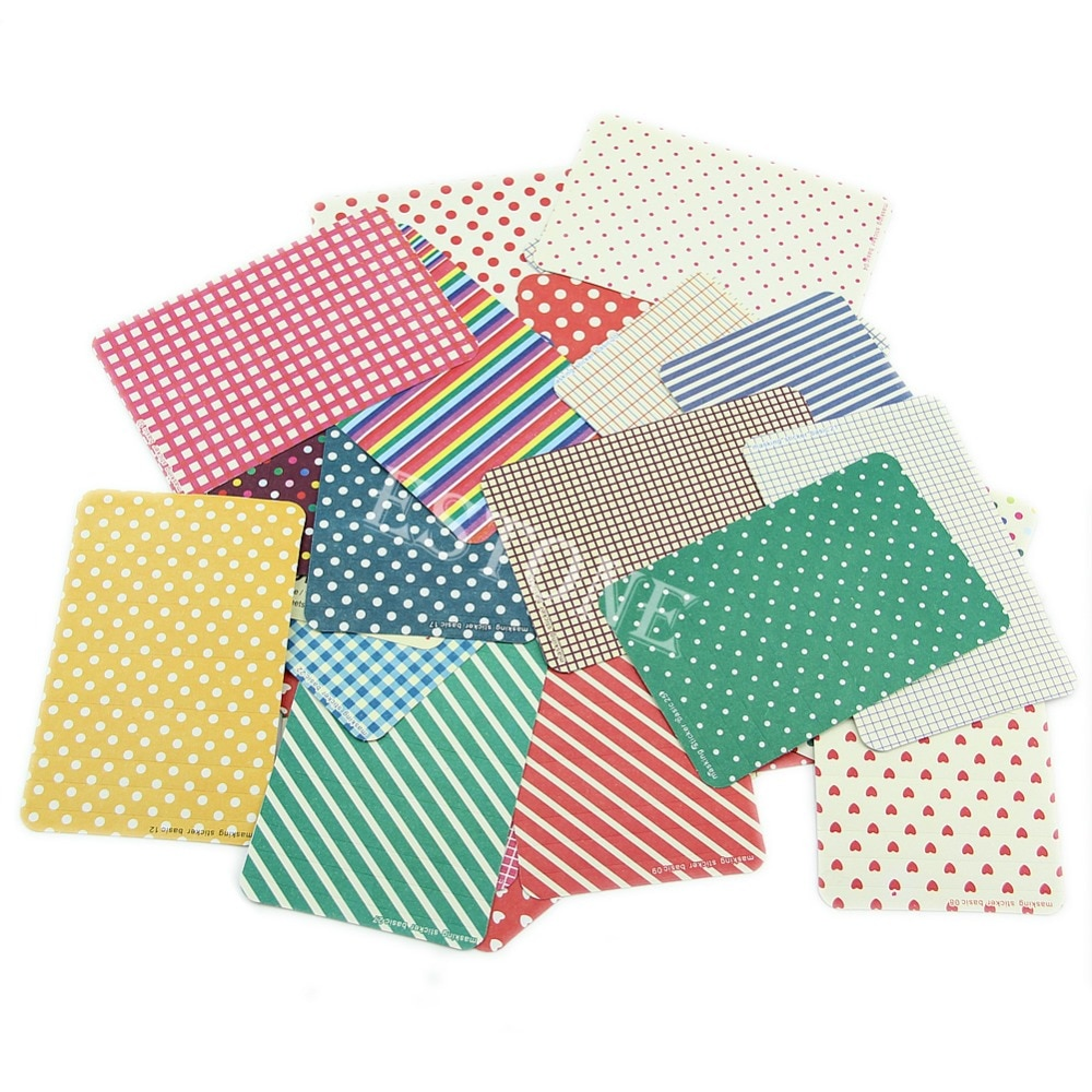 27X Washi Scrapbook cinta adhesiva básica Paquete de pegatinas artesanales etiqueta decorativa