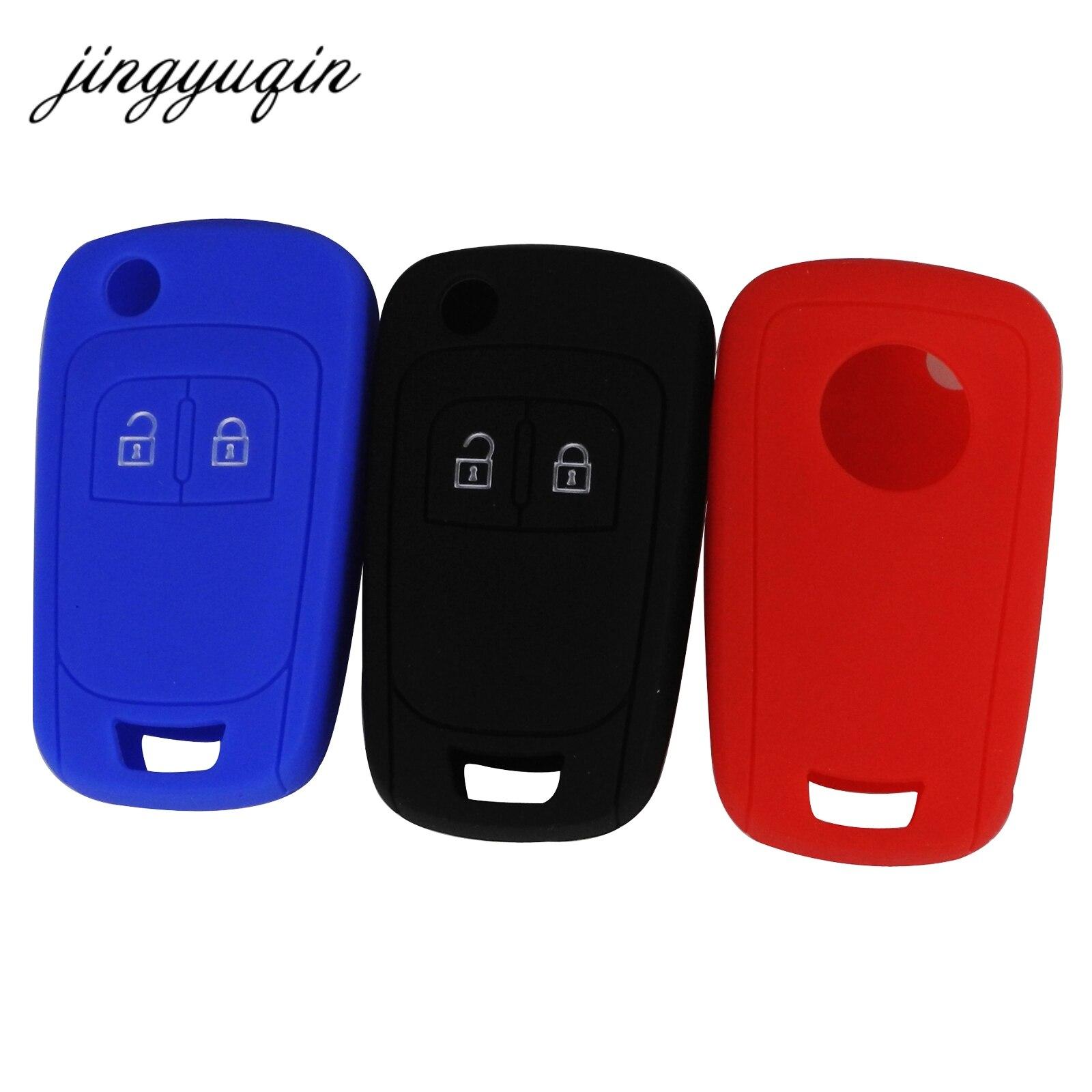 Jingyuqin 30 pçs/lote silicone caso chave do carro para chevrolet lova sail aveo cruze flip dobrável remoto fob capa