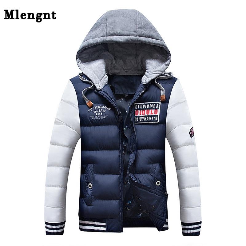 Men Thick Parka Fashion Cotton Jacket Autumn Winter 2019 Clothing Casual Classic Warm Baggy Windbreaker Zipper Hoodie Sweat Coat