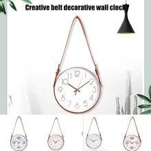 Horloge murale muette décorative   Ceinture nouveauté, horloge décorative pour maison YU-maison