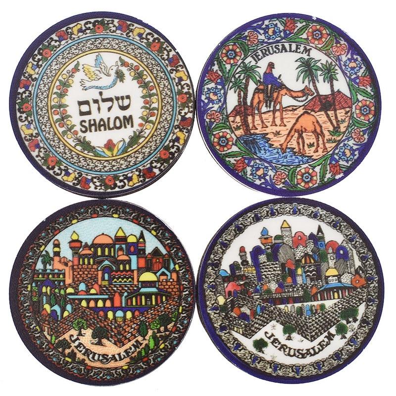 Lichi Jerusalén ronda imanes de nevera de camello Calcomanía para refrigerador de recuerdo a casa cocina Decoración