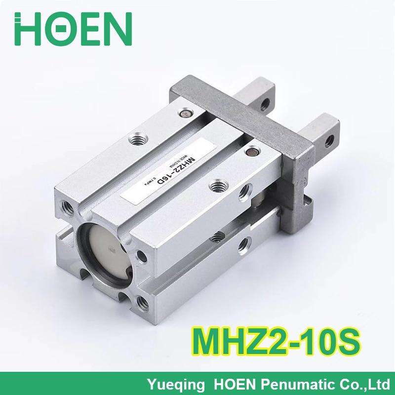 Alta calidad, acción única, normalmente abierta, mini pinza, cilindro neumático, MHZ2-10S abrazaderas de aire de aluminio