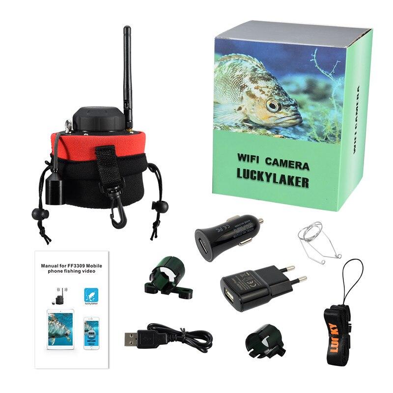 Russian menu!LUCKY Portable fishing finder WIFI Underwater Camera FF3309 80m wireless operating range Winter Sea Fishing Tackle enlarge