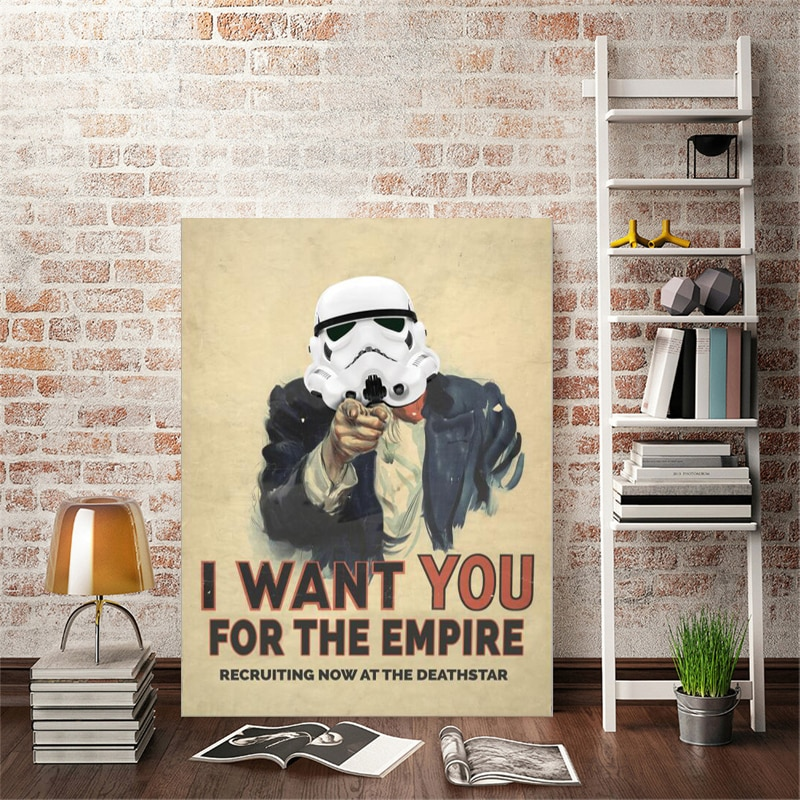 Modern Art Posters and Prints Wall Art Canvas Painting - I Want You Poster Decorative Pictures for Living Room Home Decor Gifts