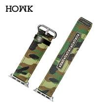 Livraison gratuite HOWK offres spéciales bracelet en Nylon pour Apple bracelet de montre 42mm 38mm mode bracelet de montre Apple montre accessoires