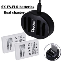 3.7V EN-EL5 EN EL5 batterie + double chargeur USB pour NIKON en el5 batterie Coolpix P530 P520 P510 P100 P500 P5100 P5000 P6000