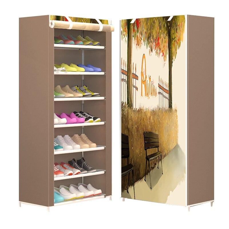 Los nuevos zapatos minimalistas modernos de ocho capas engrosamiento de polvo no tejido combinación creativa armario estante de almacenamiento