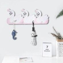 D Ins étagères murales en bois style nordique   Ravissante étagère murale, bois cygne ours lapin, planche à découper pour tissus de clés, décoration de chambre denfants