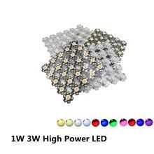 100 pièces 1 W 3 W haute puissance LED spectre complet blanc chaud blanc vert bleu rouge foncé 660nm bleu Royal avec 20mm blanc et noir étoile PCB