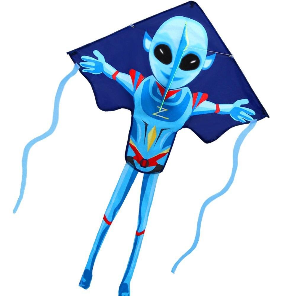 Nova Diversão Ao Ar Livre Ostenta Pipas Para Crianças E Adultos Grande Insecto Fácil Pipas Alienígena Misteriosa 55 Polegada X 38 Polegada com Corda E Alça