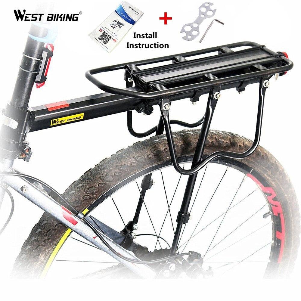 WEST bike asientos de bicicleta Rack bicicletas de montaña accesorios MTB bicicleta asiento trasero Rack portaequipaje silla puede cargar 50KG
