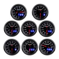 2 52mm Turbo Boost Water temp Oil Temp Oil press Volt Air fuel Ratio Exhaust gas temp Tachometer Car Gauge with 7 Colors LED