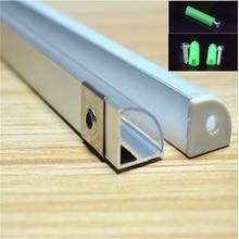 10 pièces/lot 2 mètres 45 degrés profil en aluminium, 10 pièces/lot canal de bande led pour 10mm carte PCB led barre lumineuse