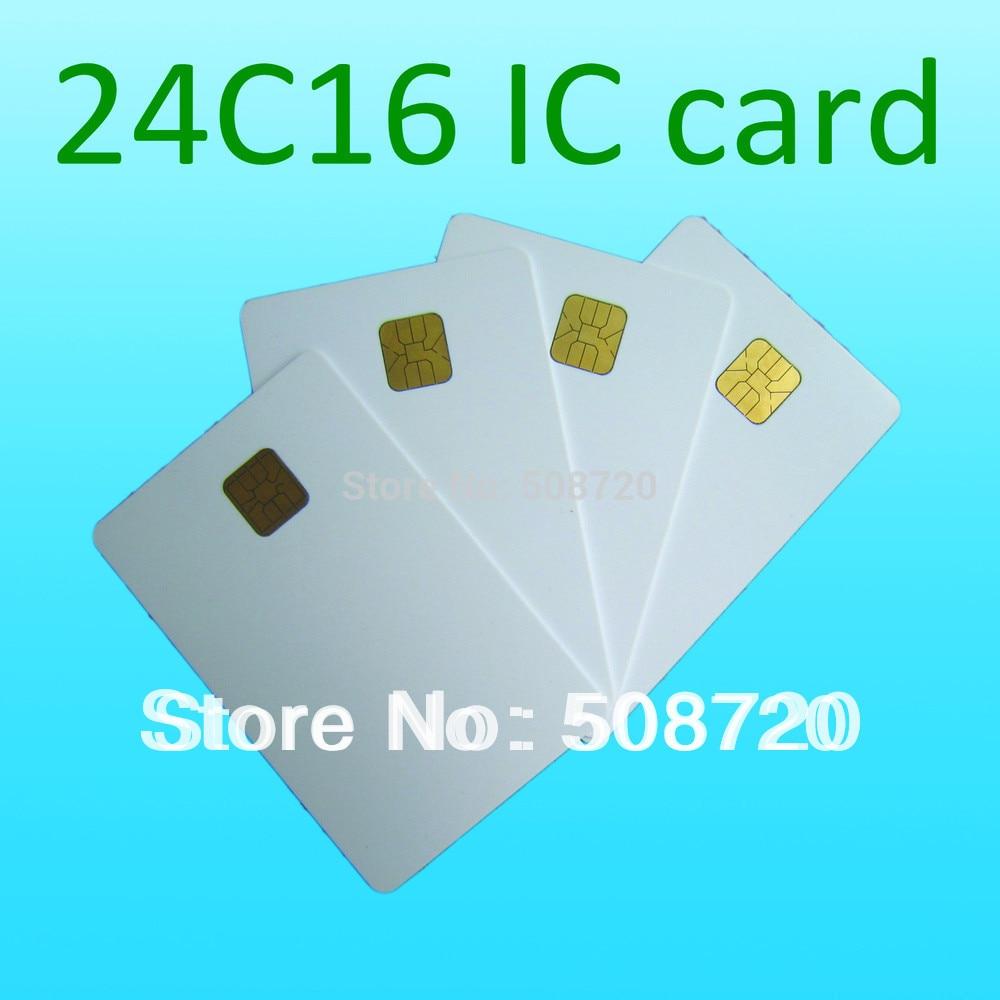 Tarjeta de contacto de alta calidad ATMEL 24c16 ISO 7816 tarjeta de teléfono inteligente IC tarjeta de seguro médico