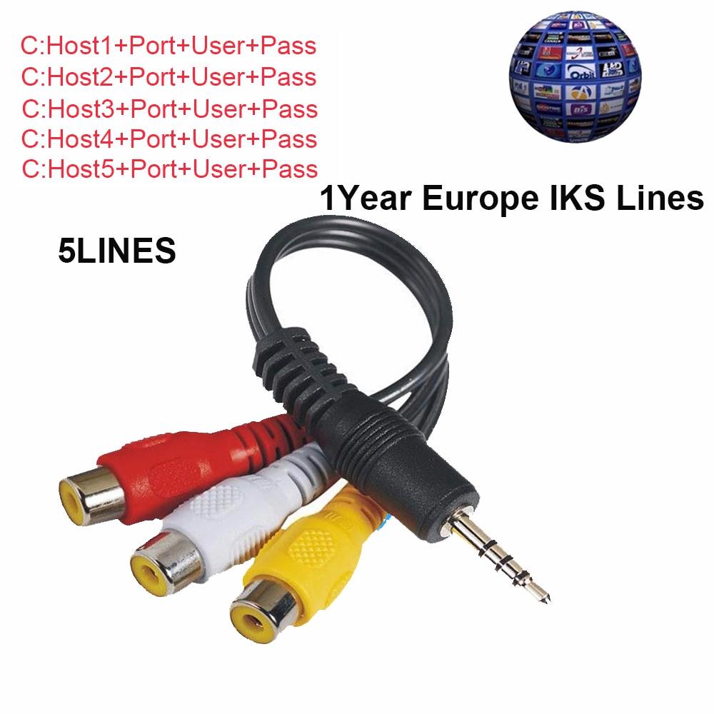 C-lines сервер для 1 года 7 линий Европа Испания ES DE IT для DVB-S2 приемников Satelite приемник для Freesat V8 V9 Super V7 HD