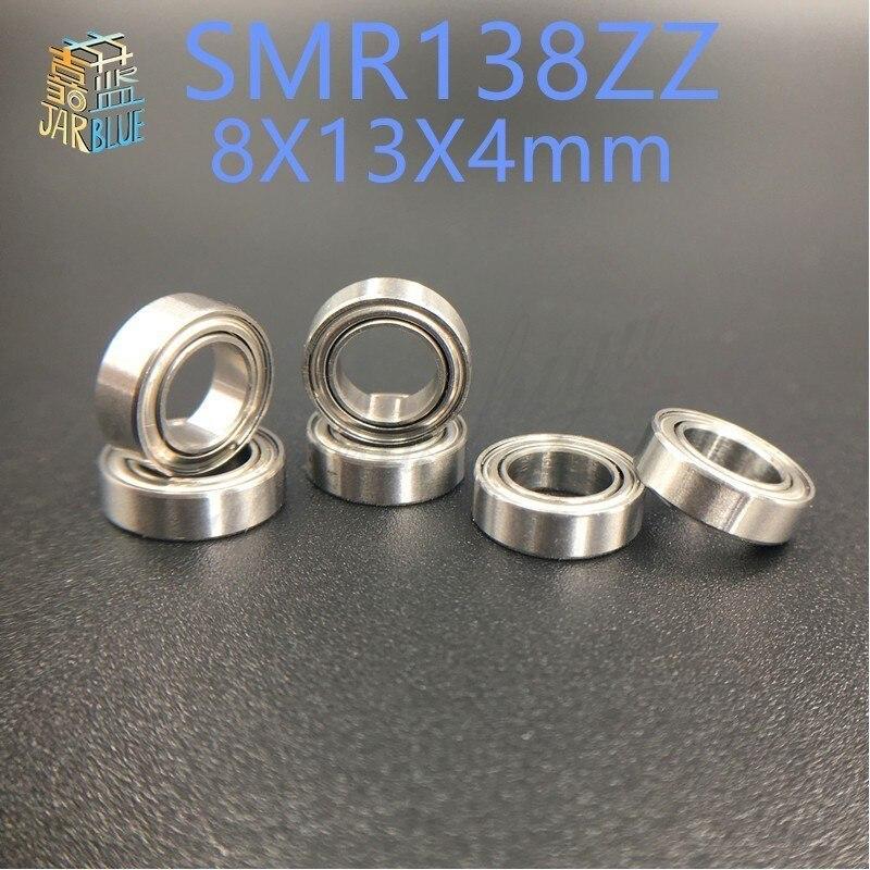 Free Shipping 4PCS  8x13x4  Metal Shields Bearings  ABEC-7 Stainless Steel  SMR138 ZZ