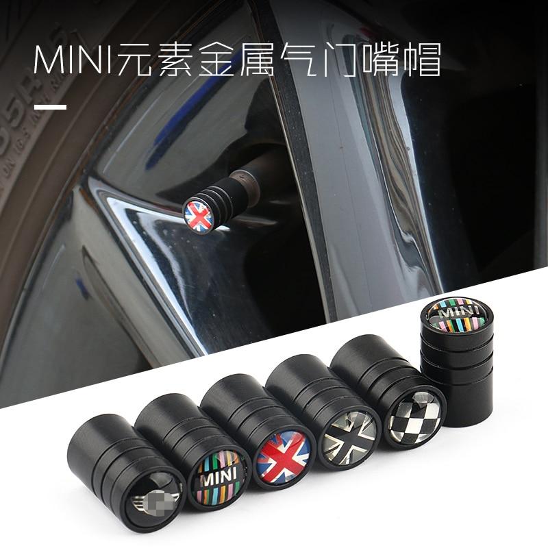 4 uds, cubierta de válvula de neumático de coche, tapa de válvula de rueda, pegatinas de decoración, estilo de coche para BMW MINI cooper R55 R56 R60 R61 F countryman