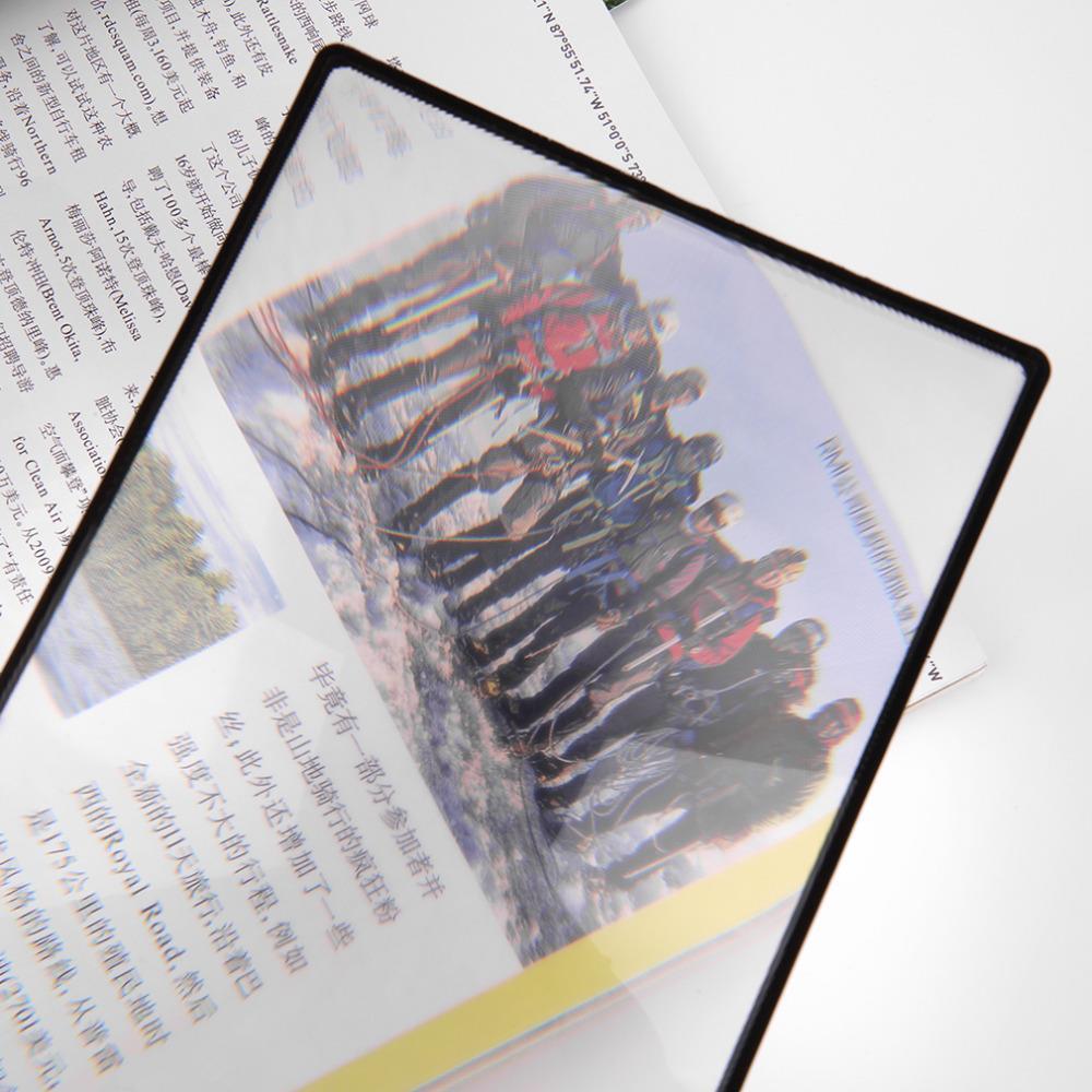 180X120mm conviniente A5 hoja plana de PVC lupa X3 Página de Libro lupa lente de lectura de aumento dropshipping
