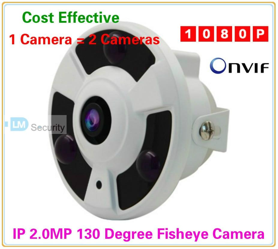 Fisheye IP Camera 1080P 2MP Panorama POE IP Camera Wide Angle 130 Degree Indoor Dome IP CAM onvif p2p Night Vision 3pcs IR LEDs