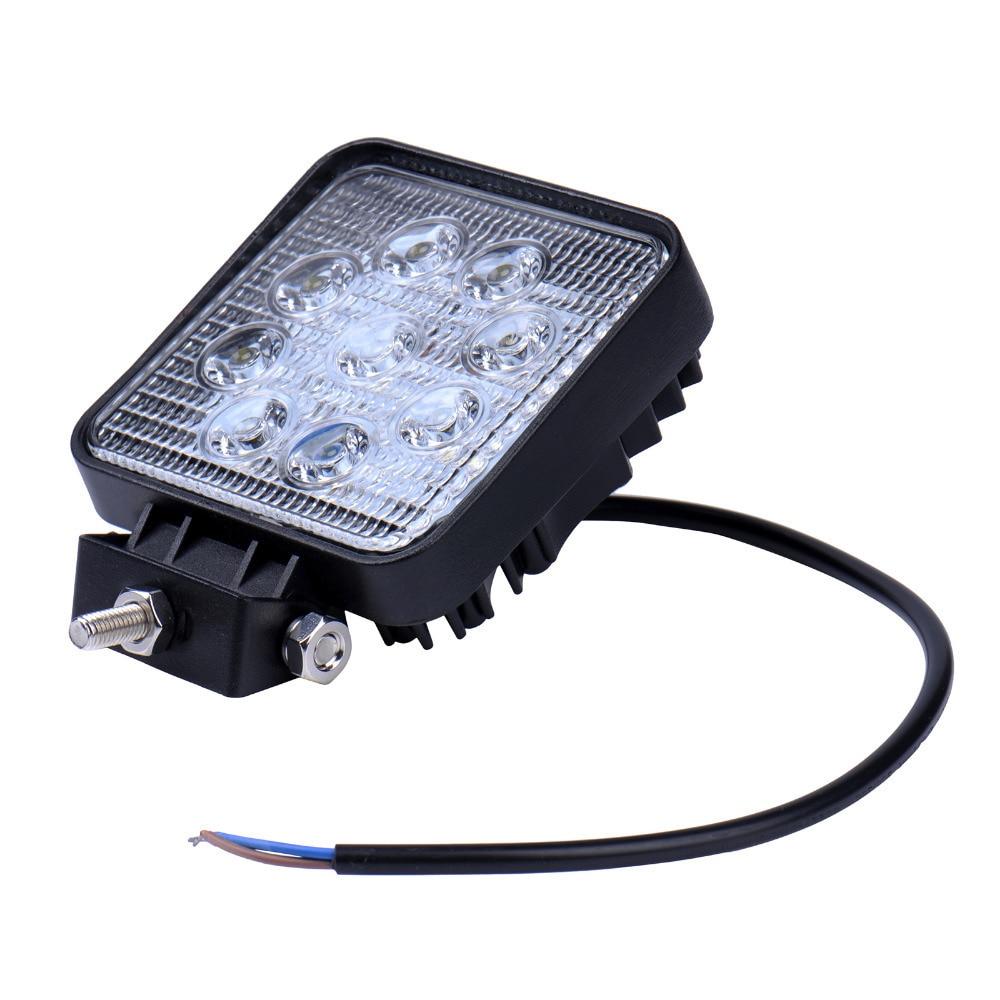 GERUITE 27W LED Car Spotlight For Truck SUV Boating Hunting Fishing IP67 Waterproof Work Light Cars LED Spot Lights