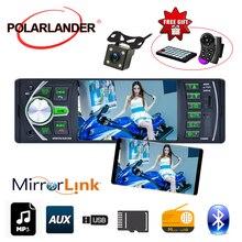 1 الدين 12V بلوتوث TF/USB/AUX في Automagnitol مرآة رابط ل الروبوت ستيريو DVR/كاميرا إدخال الصوت 4.1 ''FM راديو السيارة