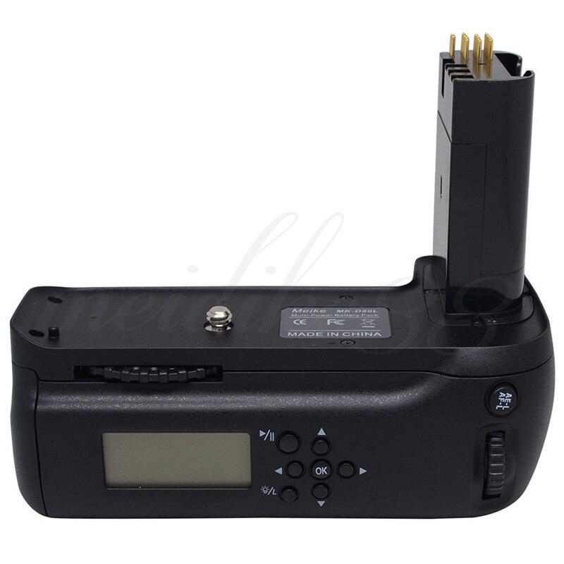 MeiKe MK-D80L LCD Vertical Battery Grip Pack Holder for Nikon D90 D80 DSLR SLR Camera
