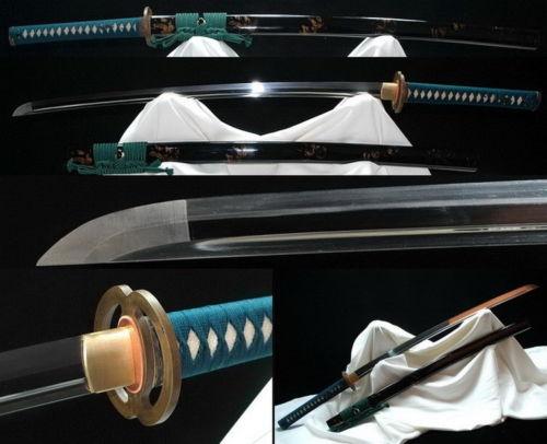 Japonês samurai espada katana tang completo 1060 alta lâmina de aço carbono artesanal 902
