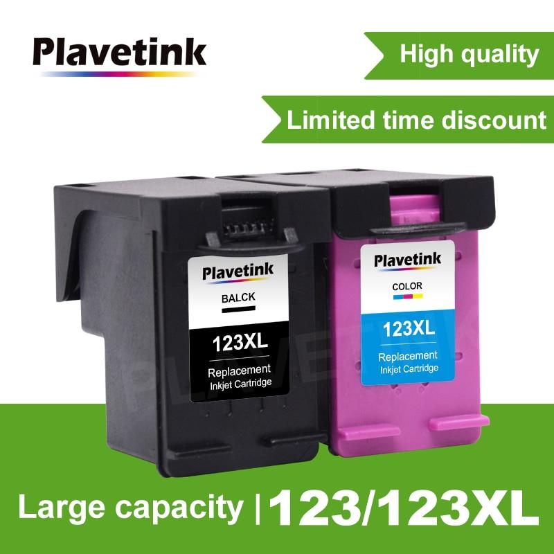 Plavetink 2130 الحبر Replacment ل HP 123 123XL الحبر الأسود خرطوشة استبدال ل HP Deskjet 1110 4513 4560 3830 طابعة IP123